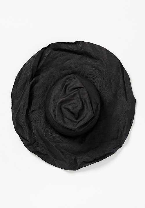 Horisaki Design & Handel Parabuntal Staw Hat in Black