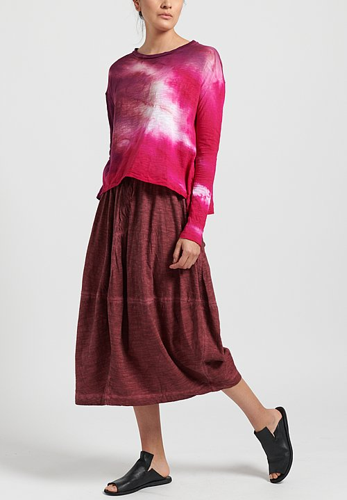 Gilda Midani Solid Dyed Y Skirt in Pepper