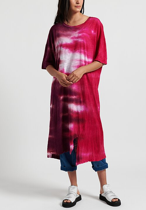Gilda Midani Pattern Dyed Long Super Dress in Pink