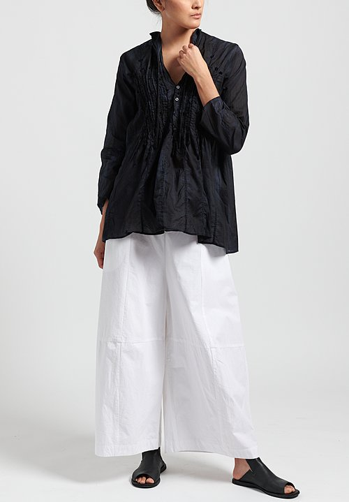 Gilda Midani Solid Dyed Cotton Voile Snow Top in Black