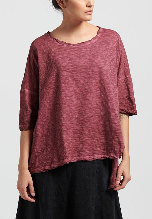 Gilda Midani Solid Dyed Short Sleeve Super Tee in Pepper