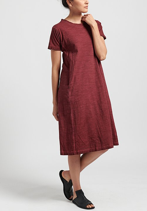Gilda Midani Solid Dyed Short Sleeve Maria Dress in Pepper