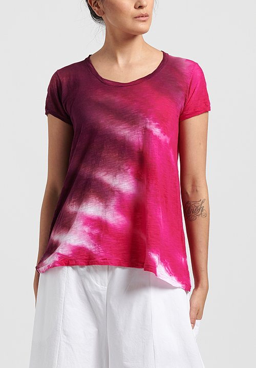 Gilda Midani Pattern Dyed Short Sleeve Monoprix Tee in Pink