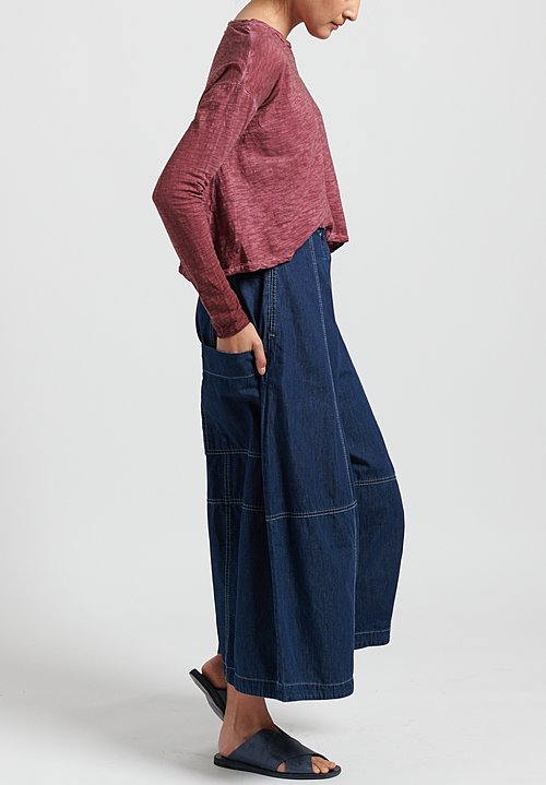 Gilda Midani Denim Egg Pants in Blue
