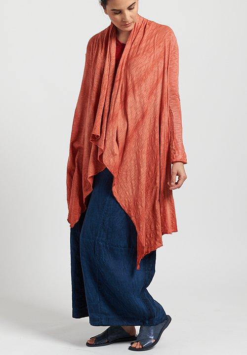 Gilda Midani Solid Dyed Long Karan Cardigan in Burn