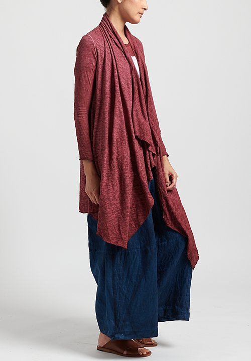 Gilda Midani Solid Dyed Long Karan Cardigan in Pepper