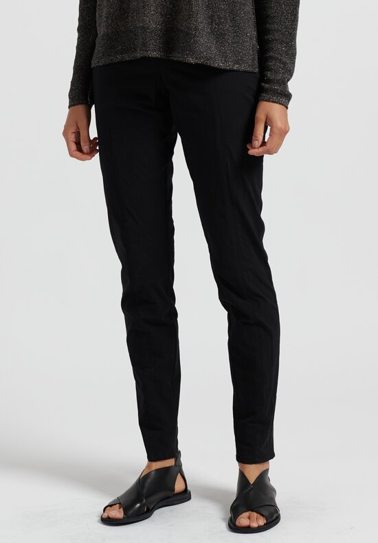 Annette Gortz Cotton Tapered Ex Pants in Nero