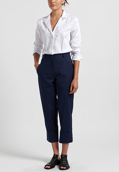 Annette Gortz Cotton Cuffed Tai Pants in Midnight