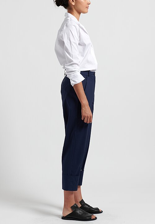 Annette Gortz Cotton Cuffed Tai Pants in Navy