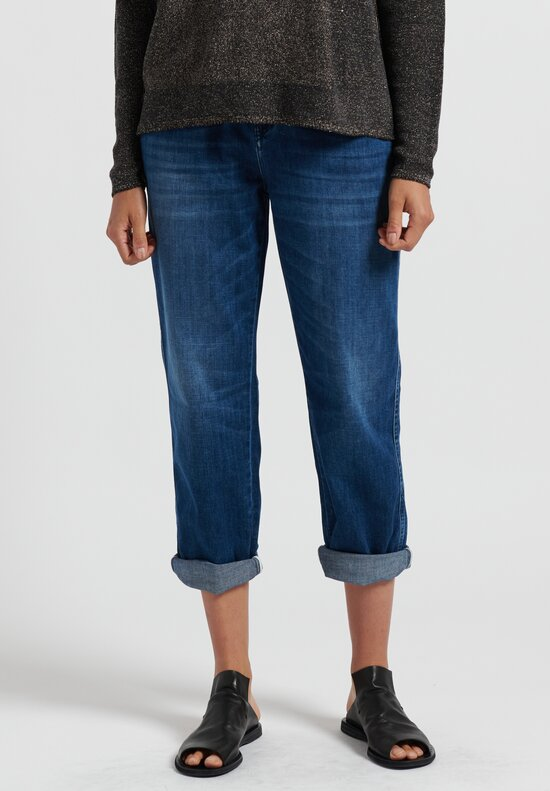 Annette Gortz Cotton Met Drawstring Waist Jeans in Midnight