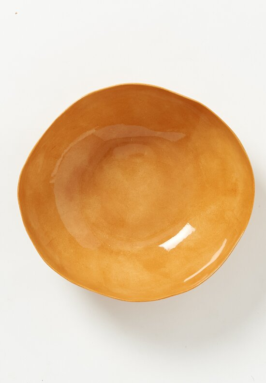 Bertozzi Solid Painted Large Bowl in Orange