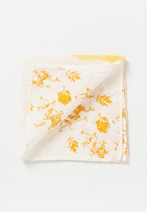 Bertozzi Crumpled Linen Two-Tone Printed Napkin in Gold
