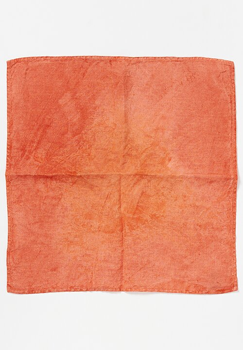 Bertozzi Handmade Linen Square Napkin in Light in Orange