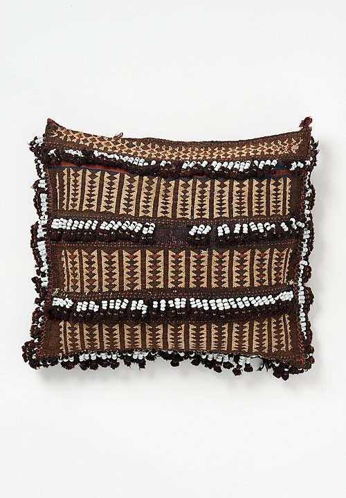 Wool Baluch Camel Bag Bead Tassel Pillow