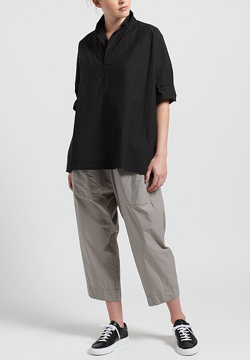 Album Di Famiglia Cotton Relaxed Shirt in Black