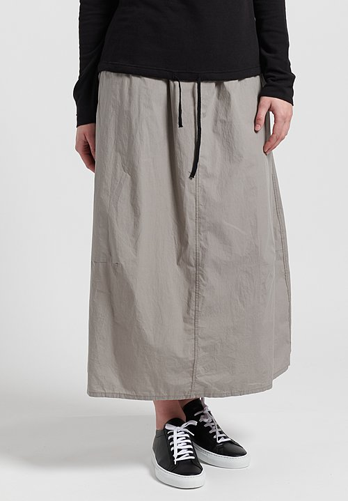 Album Di Famiglia Cotton Drawstring Skirt in Grey
