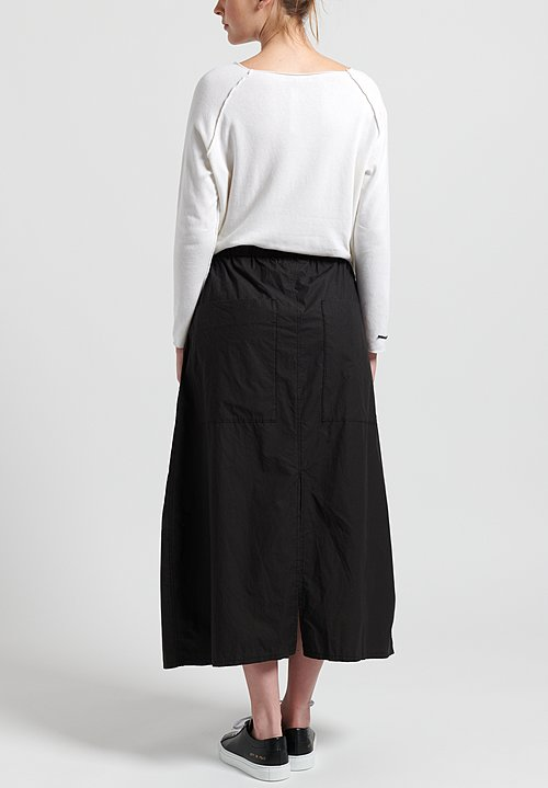 Album Di Famiglia Cotton Drawstring Skirt in Black