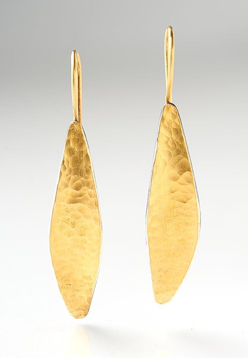 Lika Behar 24K Fusion, Ox. Silver Inversion Leaf Earring