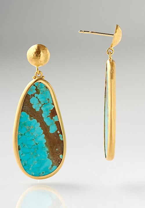 Lika Behar 22K, Nevada #8 Turquoise My World Earrings