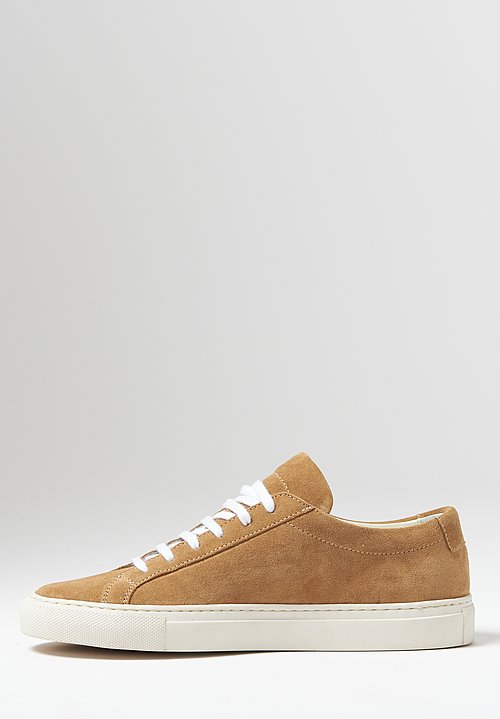 Common Projects Original Suede Achilles Low Contrast Sole Sneaker in Tan