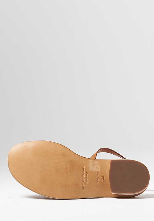 Officine Creative Droit Nappa Leather Sandals in Cuoio