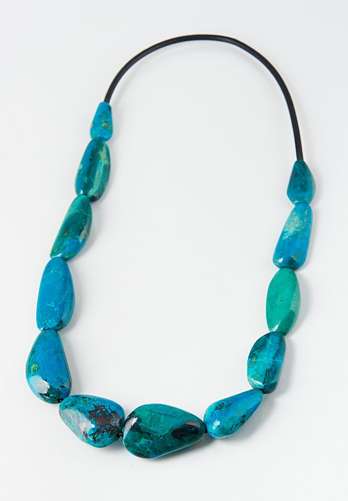 Monies Long Chrysocolla Necklace
