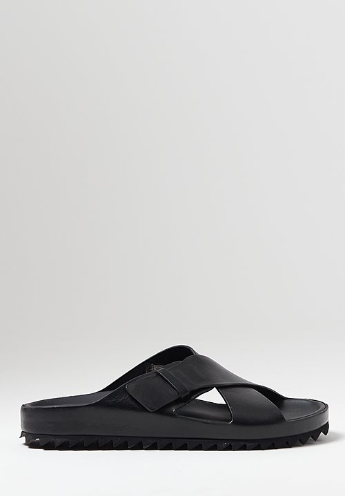 Officine Creative Pelagie Nappah Slide in Nero