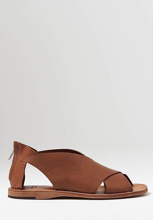 Officine Creative Itaca Rest Cutout Sandal in Tortoise