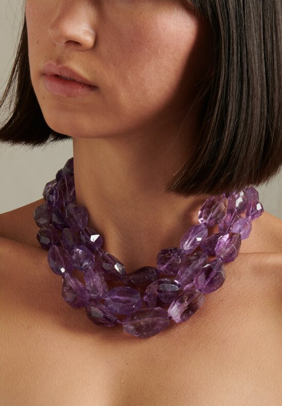 Monies UNIQUE Faceted Amethyst Necklace
