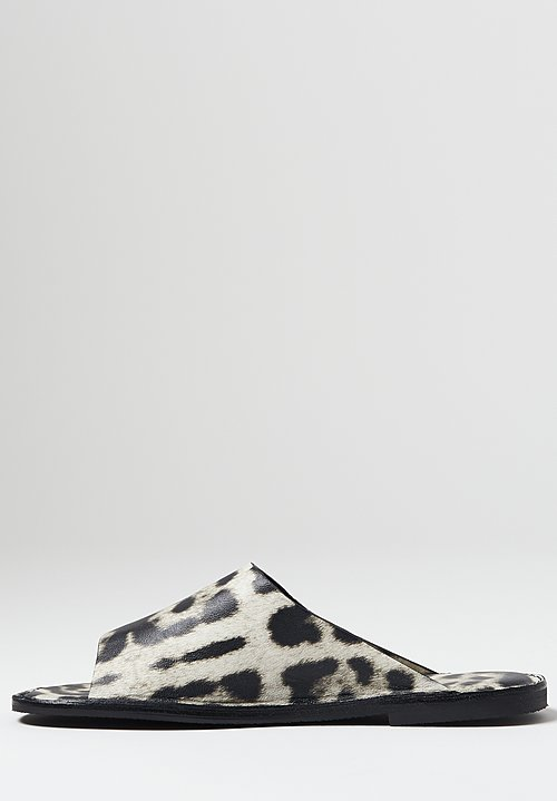 Dries Van Noten Leopard Print Sandals in Grey