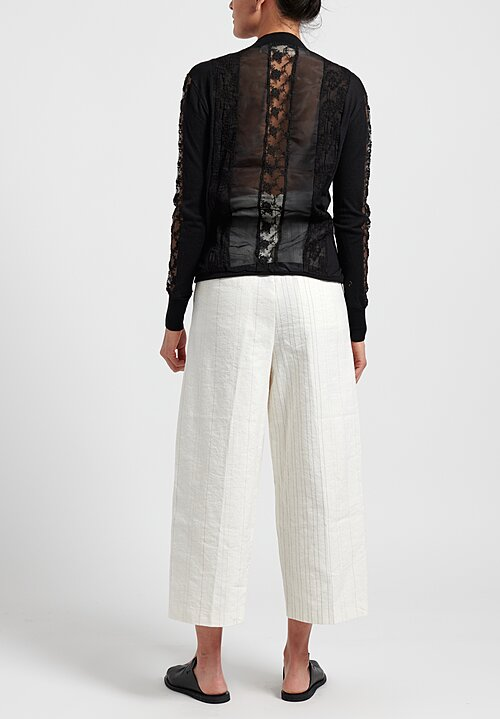 A Tentative Atelier ''Gehry'' Twist Pants in Off White