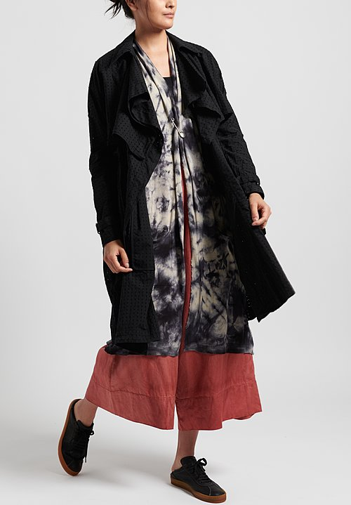 Masnada Poplin Trench in Black