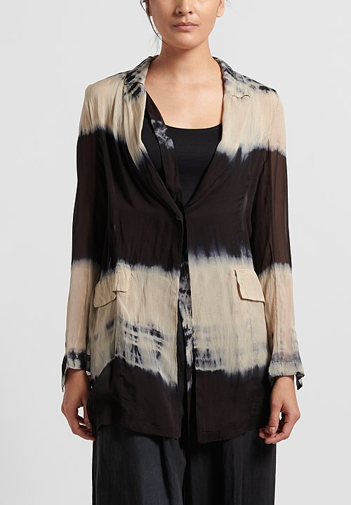 Masnada Silk Tie Dye Jacket in Dust