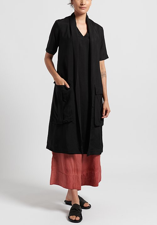 Masnada Tie Dress in Black