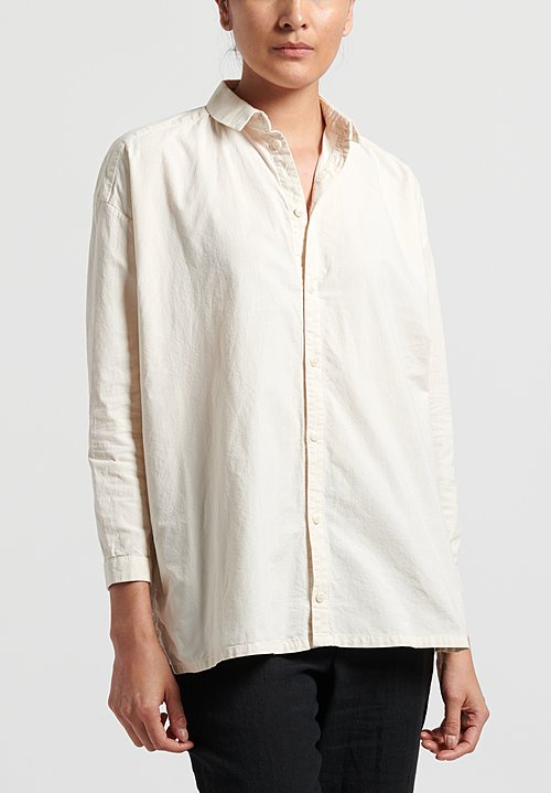 Toogood Cotton Calico Draughtsman Shirt in Raw