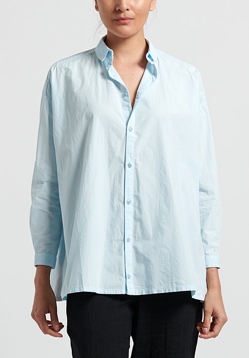 Toogood Cotton Poplin Draughtsman Shirt in Powder