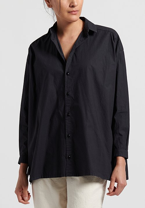 Toogood Fine Cotton Draughtsman Shirt in Flint