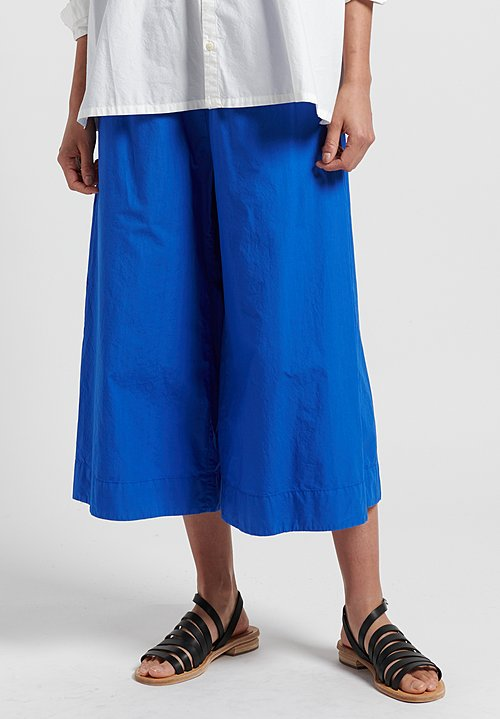 Toogood Cotton Poplin Boxer Trousers in Cobalt