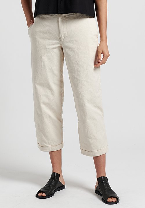 Toogood Canvas Bricklayer Trousers in Raw
