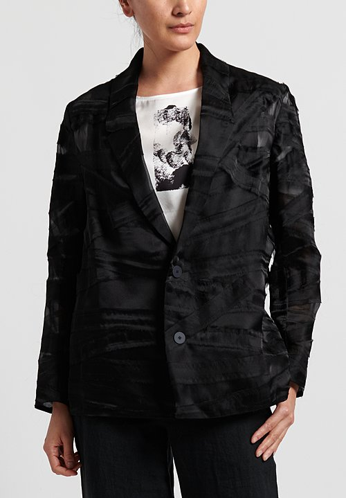 Toogood Silk Organza Editor Jacket in Flint