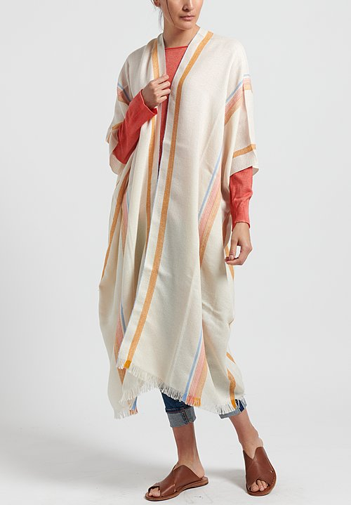 Wehve Baby Alpaka/Silk Fine Woven Poncho in Burnt Orange	Regular: $565.00 Ponchos	0