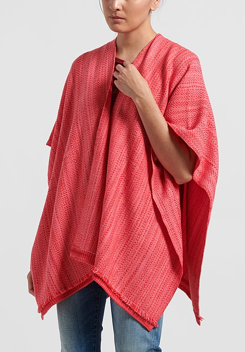 Wehve Merino Wool Hemed Bianca Wrap in Pink