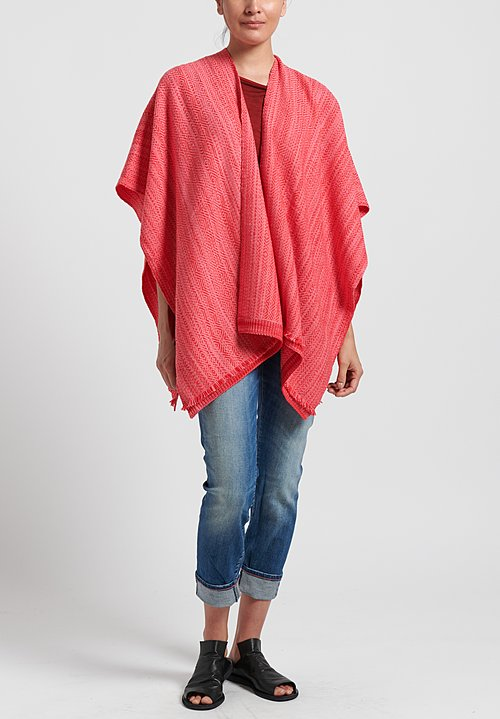 Wehve Merino Wool Hemed Bianca Wrap in Eros Pink
