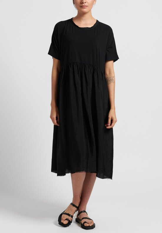 Uma Wang Cotton Dana Dress in Black