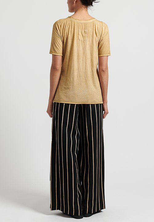 Uma Wang Cotton Tina Tee-Shirt in Tan