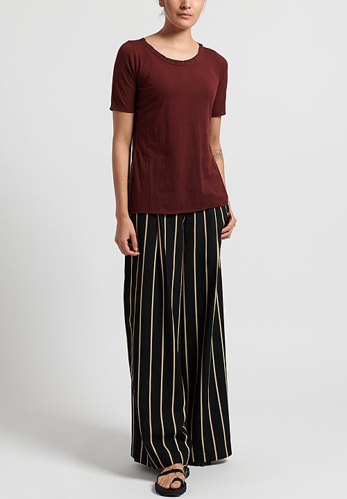 Uma Wang Cotton Tina Tee-Shirt in Dark Red