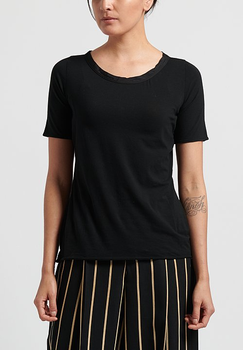 Uma Wang Cotton Tina Tee-Shirt in Black