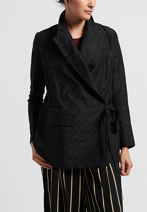 Uma Wang Khloe Wrap Jacket in Black