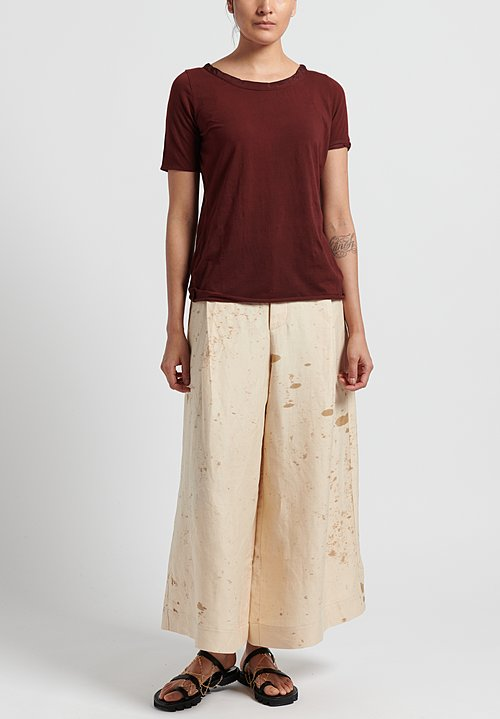 Uma Wang Petra Pants in White/ Tan