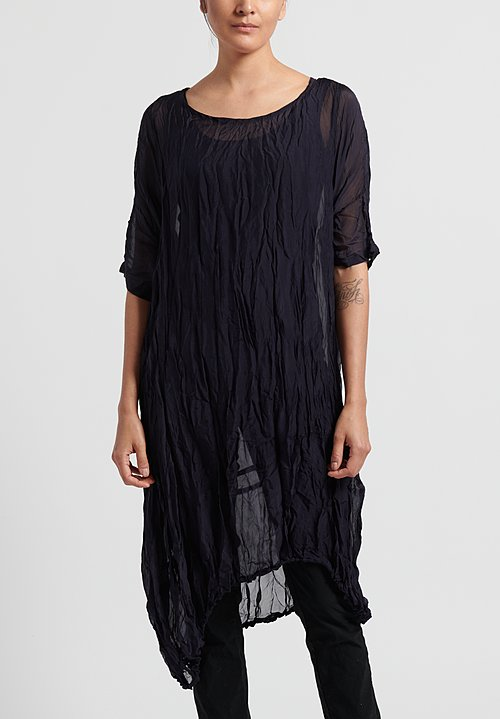 Rundholz Black Label Sheer Crinkle Tunic in Martinique